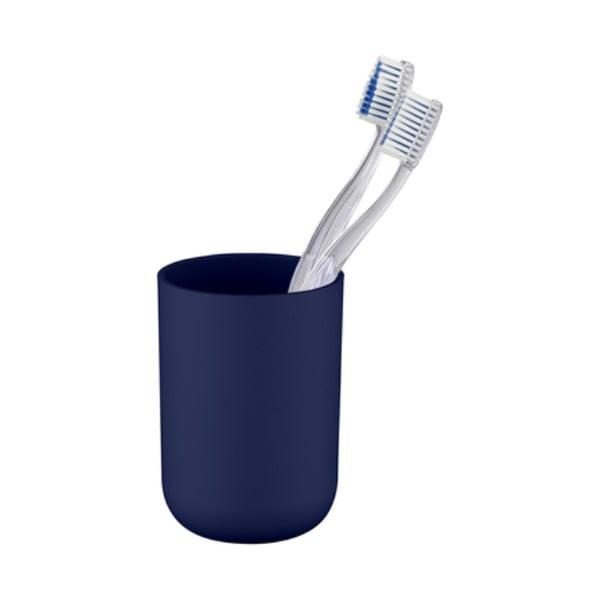 Tmavě modrý kelímek na zubní kartáčky Wenko Brasil Dark Blue