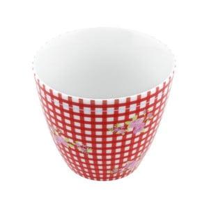 Porcelánový šálek Karo S, červený 4 ks