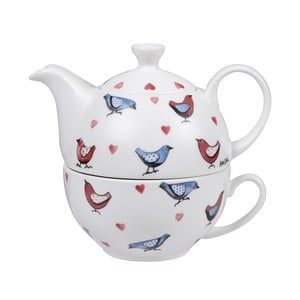 Konvička s hrnkem Churchill China Lovebirds, 830 ml