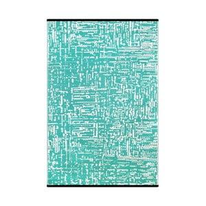 Tyrkysovo-bílý oboustranný koberec vhodný i do exteriéru Green Decore Tarka, 120 x 180 cm