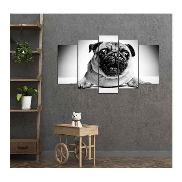 Tablou din mai multe piese 3D Art Doggie, 102 x 60 cm