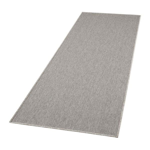 Šedý běhoun BT Carpet Nature, 80 x 150 cm
