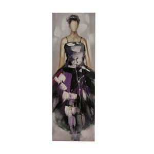Olejová malba Purple Lady, 50x150 cm