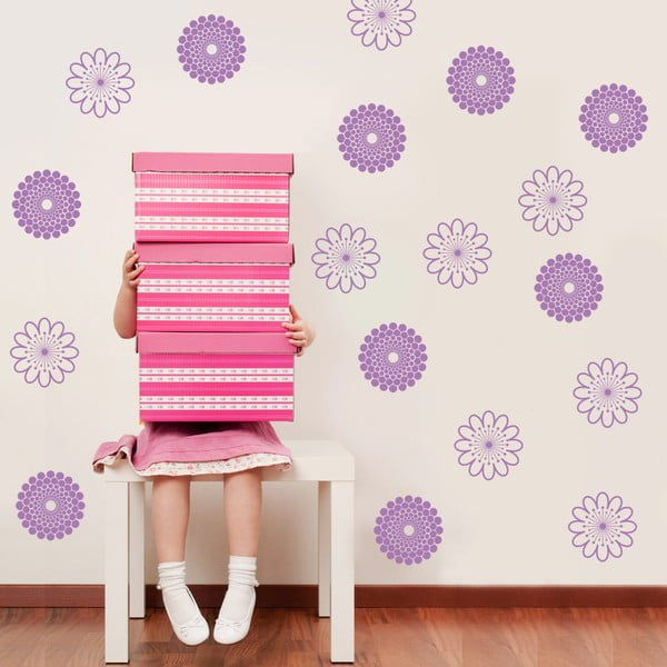 Samolepka na stěnu Kvítek, 50x70 cm
