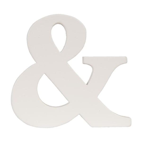 Dekorativní písmeno &, 9x8 cm