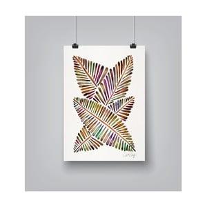 Poster Americanflat Banana Leaves, 30 x 42 cm