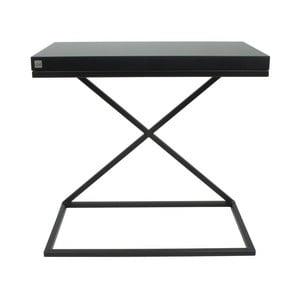 Černý odkládací stolek Take Me HOME, 50x30cm