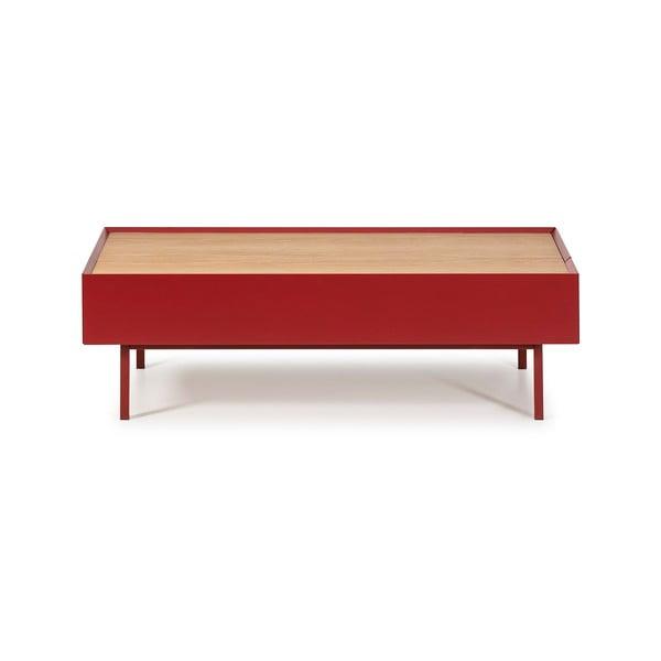 Tmavě červený konferenční stolek Teulat Arista
