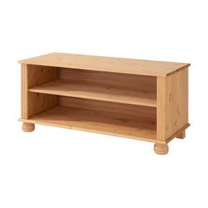 Hnědý TV stolek z masivního borovicového dřeva Støraa Ella
