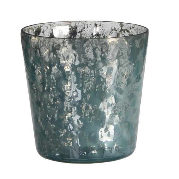 Stojan na svíčku Benito Blue, 10x11 cm