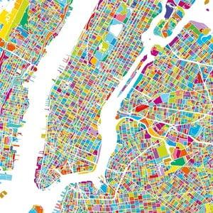 Obraz Homemania Maps Manhattan, 60x60cm