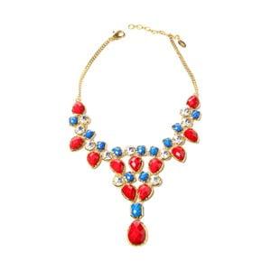 Náhrdelník Crystal Dune Red/Blue