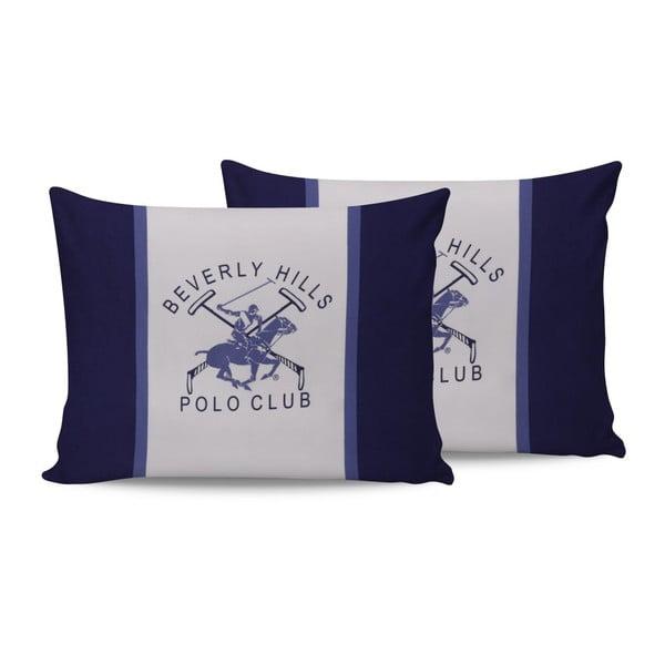 Set 2 perne din bumbac Polo Club Blue,50x70cm