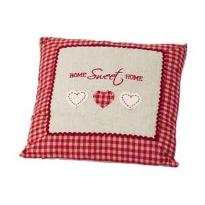 Polštář Home Sweet Home Red, 40x40 cm