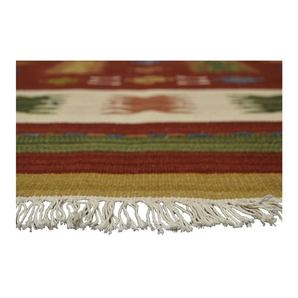 Ručně tkaný koberec Kilim Jasmine, 95x155cm