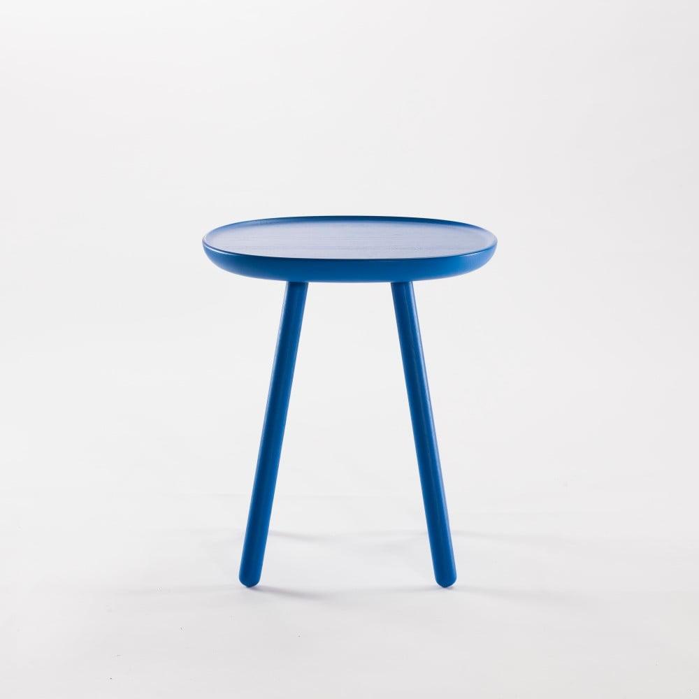 Modrý odkládací stolek z masivu Emko Naïve Small