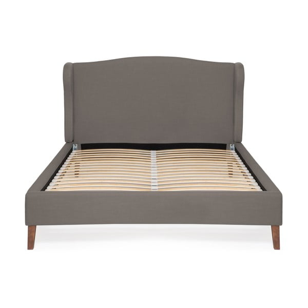 Šedá postel Vivonita Windsor Linen, 200x180cm