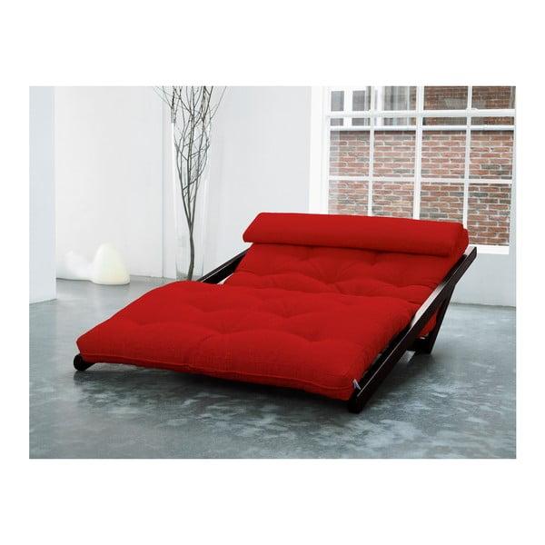 Lenoška Karup Figo, Wenge/Red, 120 cm
