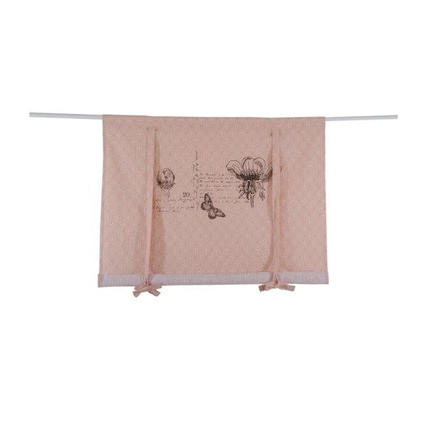 Římská roleta Botanice 120x100 cm, růžová