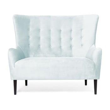 Canapea cu 2 locuri Vivonita Blair, albastru - gri