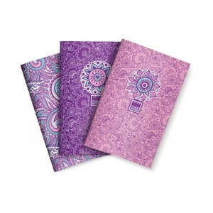 Sada 3 zápisníků Makenotes Purple&Pale