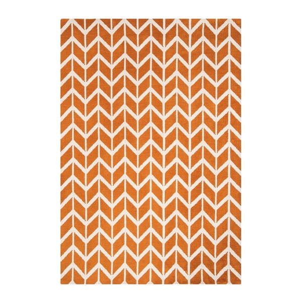Koberec Asiatic Carpets Chevron Orange, 100x150 cm
