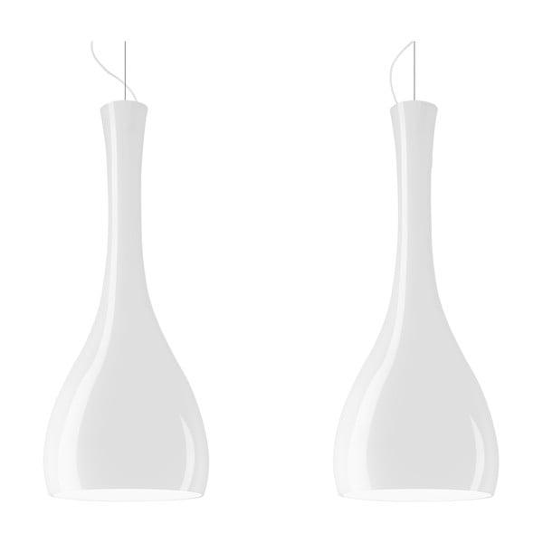 Dvojité světlo ITTEKI Elementary, lesklá opálová/bílá/bílá