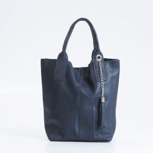 Tmavě modrá kožená kabelka Giorgio Costa Lauretta