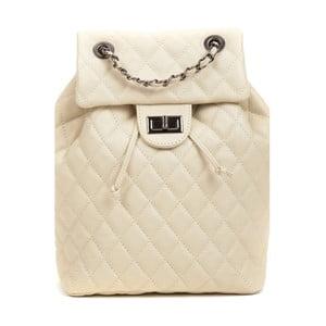Béžový kožený batoh Anna Luchini Lucy