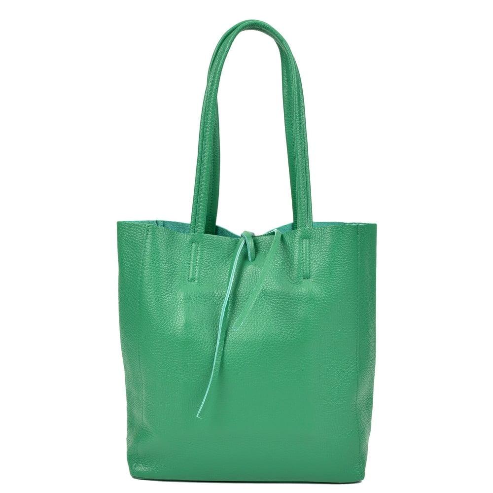Zelená kožená kabelka Sofia Cardoni Simply