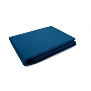 Tmavě modrý povlak na peřinu z bavlněného saténu L'Officiel Interiors, 200x200cm