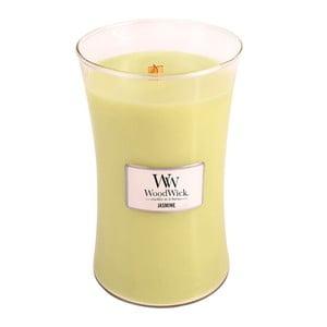 Svíčka s vůní jasmínu WoodWick, dobahoření130hodin