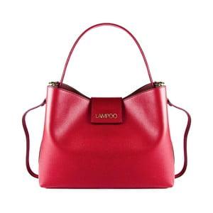 Červená kožená kabelka Lampoo Pango