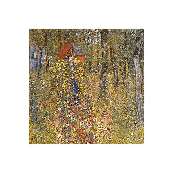 Reproducere tablou Gustav Klimt - Farm Garden With Crucifix, 60 x 60 cm