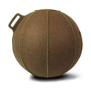 Hnědý plstěný sedací míč VLUV, 65 cm