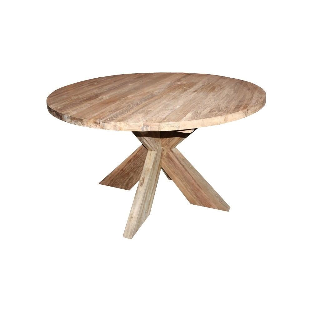 Jídelní stůl z teakového dřeva HSM Collection Ronde, průměr 130 cm