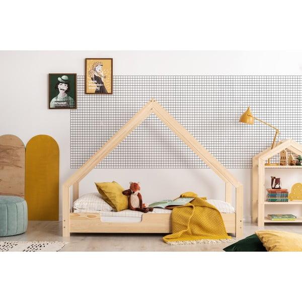 Dziecięce łóżko z drewna sosnowego w kształcie domku Adeko Loca Cassy, 70x180 cm