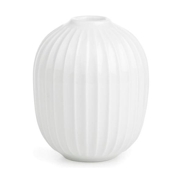 Bílý porcelánový svícen Kähler Design Hammershoi, výška 10 cm