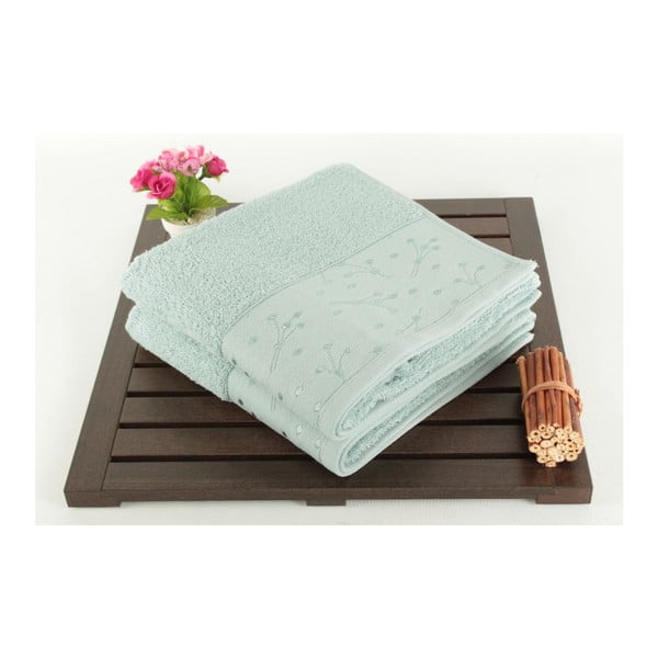 Sada 2 světle zelených ručníků Tomur Green, 50x90cm