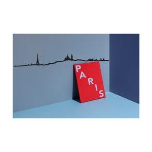 Černá nástěnná dekorace se siluetou města The Line Paris XL