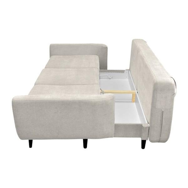 Canapea extensibilă cu 3 locuri Mazzini Sofas Jasmin, crem