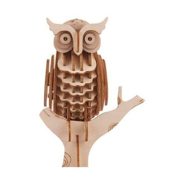Owl 3D puzzle balsafából - Kikkerland