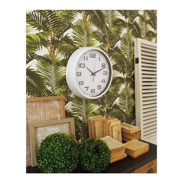 Bílé nástěnné hodiny Orchidea Milano Living, ø 38 cm