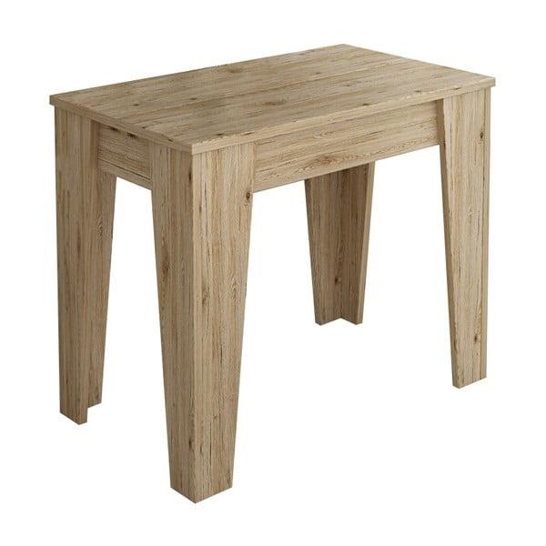 Masă extensibilă din lemn cu 6 plăci de extensie Tomasucci Charlie, 75 x 90 x 50 cm, natural