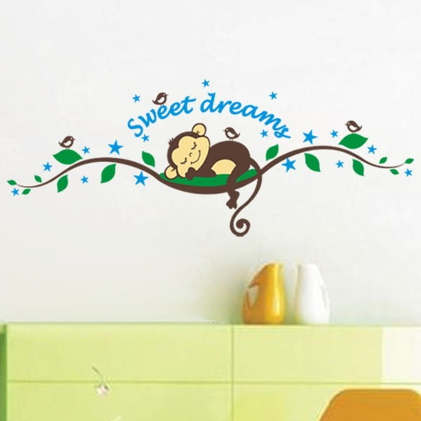 Set autocolante Ambiance Monkeys Sweet Dreams