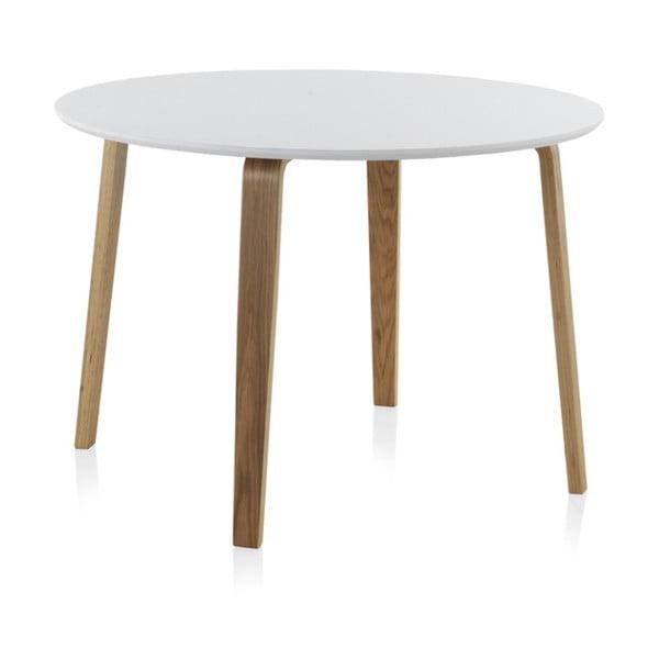 Bílý kulatý jídelní stůl Geese, ⌀ 110 cm