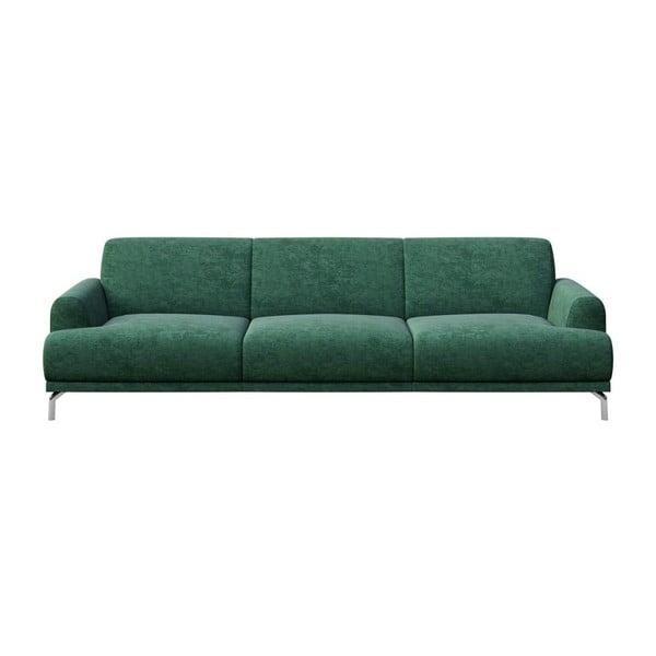 Zelená třímístná pohovka MESONICA Puzo