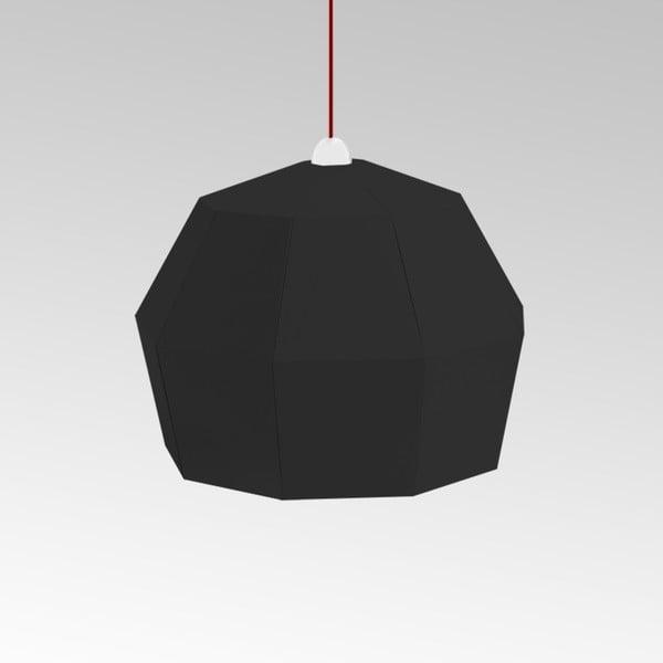Kartonové svítidlo Uno Fantasia A Black, s červeným kabelem