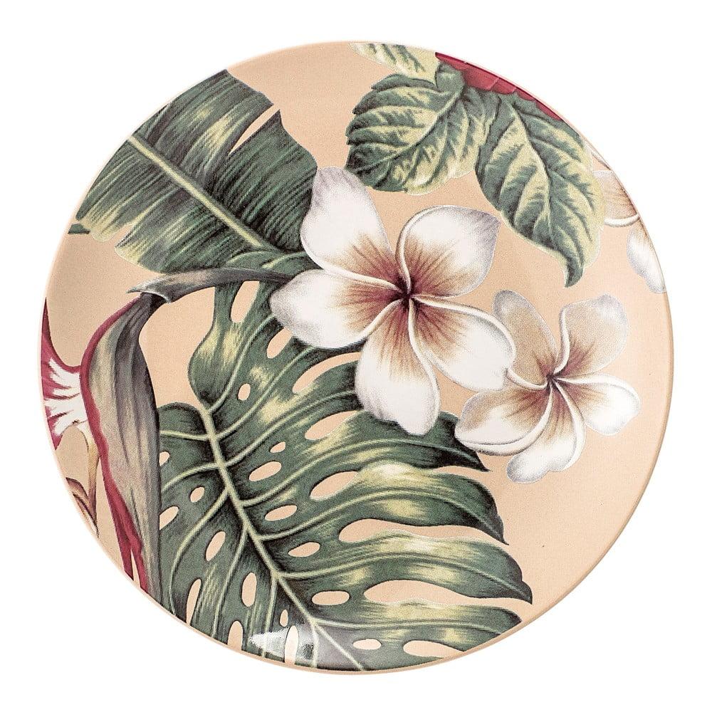 Keramický mělký talíř Bloomingville Aruba Jungle, ⌀20 cm Bloomingville