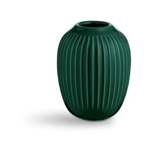 Zelená kameninová váza Kähler Design Hammershoi,výška 10 cm
